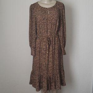 Talbots leopard dress